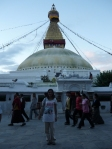 Waiting for sunset at Boudhanath