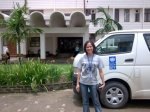 At UN Building in Yangon-Myanmar, 2008