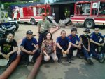 With rescue team from Jakarta Fire Fighters at UOB Plaza, Jan 2013