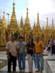 With friend in Yangon, Myanmar, 2008