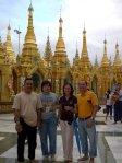 With friend in Yangon, Myanmar, 2008